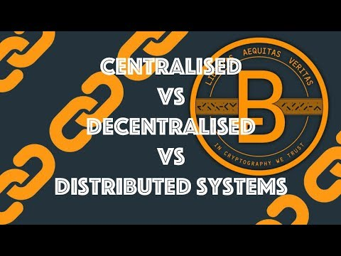 Centralised vs Decentralised vs Distributed Systems [Blockch