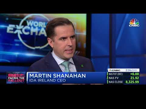 Martin Shanahan, CEO, IDA Ireland on Worldwide Exchange CNBC 29/10/2019