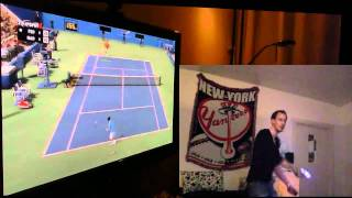 Top Spin 4 Playstation Move demonstration 2