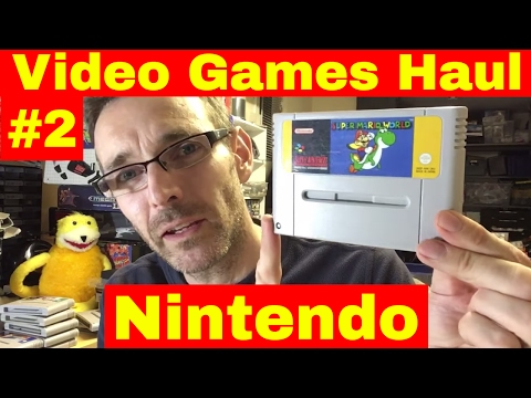 Huge Video Game Haul - Part 2 - Nintendo Games - How to sell on ebay