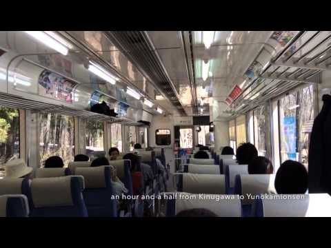 By train through the mountains of Japan from Tokyo to west coast
