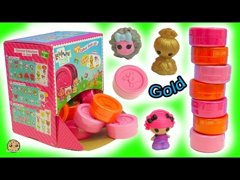 Box Full Button Surprise Blind Bags Toys Can I find Gold Glitter Princess Doll + Unicorn ?