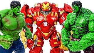 HULK SMASH~ Thanos Transform Into HulkBuster, Double Green Hulk Appeared Defeat Thanos #Toymarvel