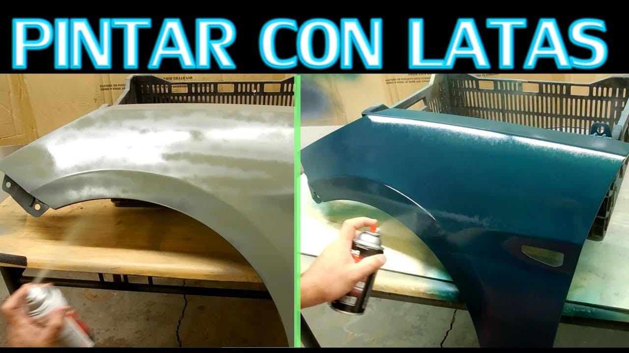 Como Pintar Partes Del Auto Con Spray Barato Youtube