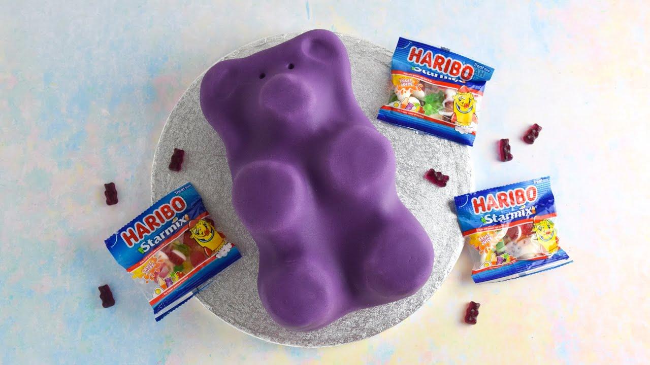 (AD) HARIBO Starmix Purple Bear Cake Recipe