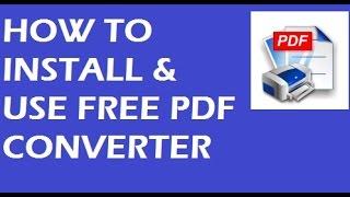 كيفية تثبيت واستخدام PDF مجانا Creater - Cute PDF Writer