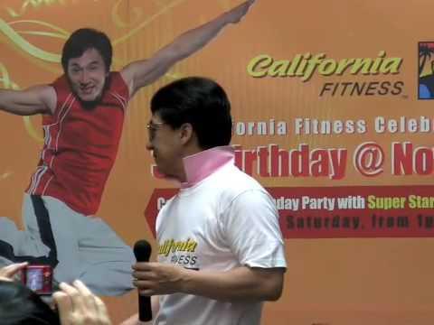 Jackie Chan celebrates 3rd Anniversary of California Fitness Singapore