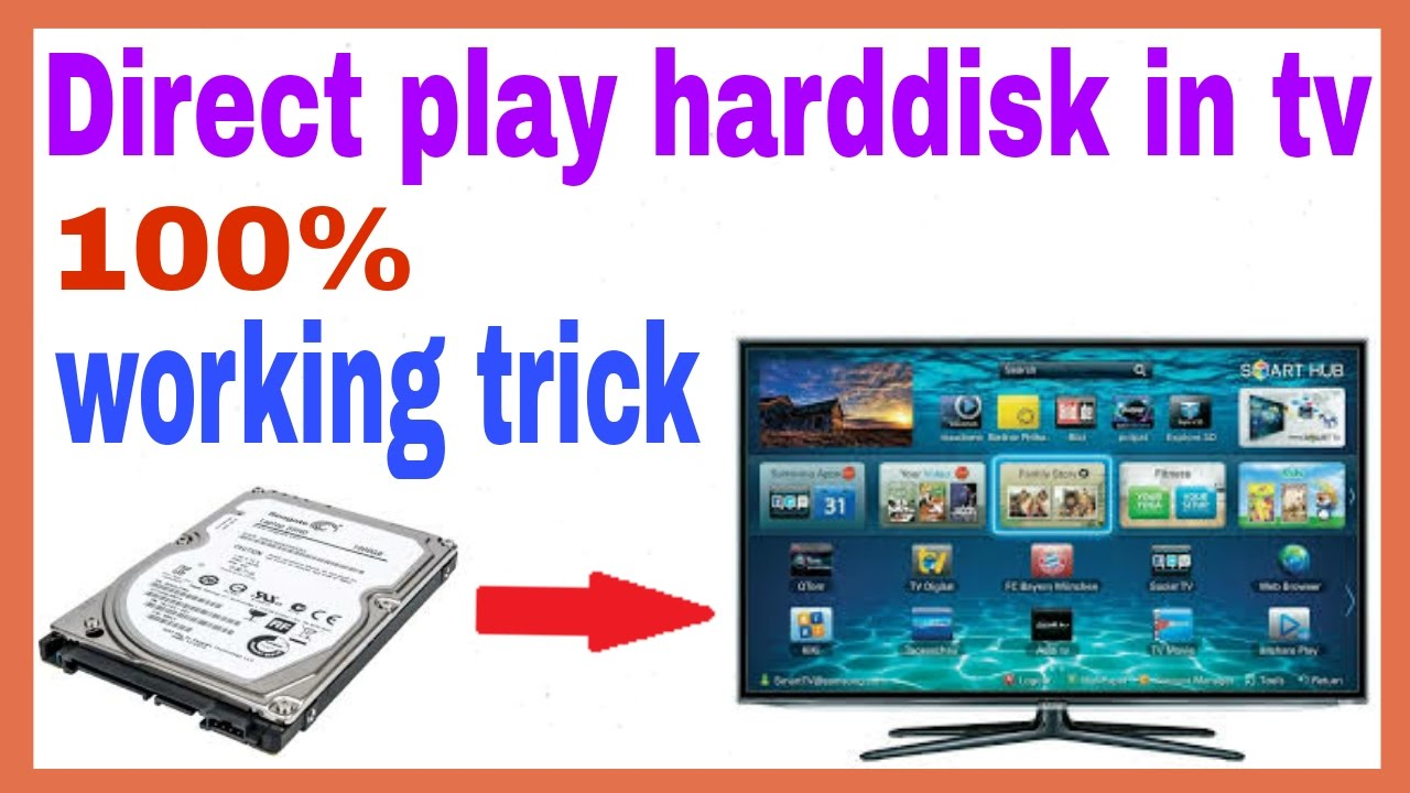 [Hindi] how to connect hard disk to tv ! hard disk to usb in hindi