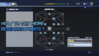 How to get more Research Points in Fortnite?