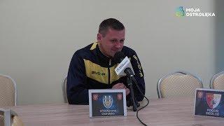 Marcin Truszkowski (Korona Ostro³êka) po meczu z Pogoni± II Siedlce