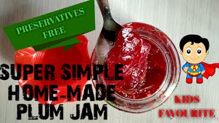 Kids favourite super simple home made Plum (आलू बुखारा) Jam. 😋 only 2 ingredients | Baat Pate ki |