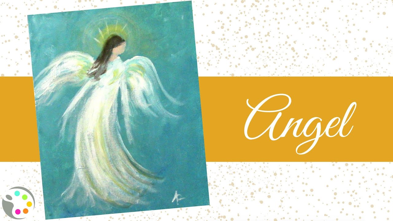 How To Paint An Angel With Acrylics Youtube