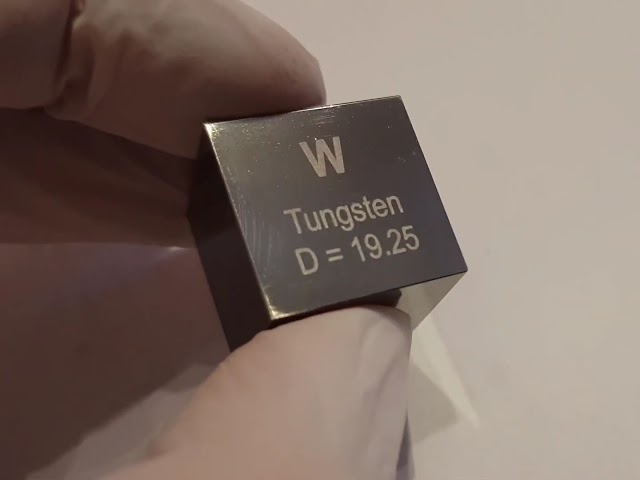Big Tungsten density cube 10 cubic centimeters. 193 grams