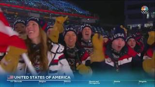 The PyeongChang 2018 Olympic Games: Team USA marching