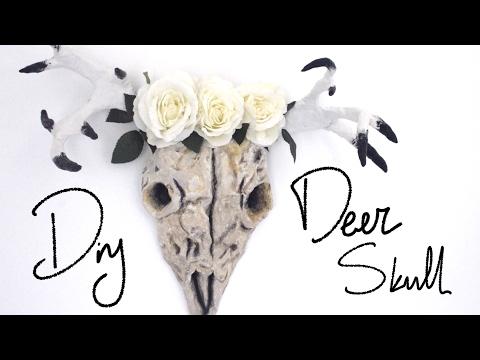 ✂ DIY Deer Skull - Pinterest Tumblr home decor - GREEK SUBS
