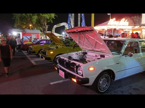 Old Town Kissimmee Florida Saturday Night Car Cruise