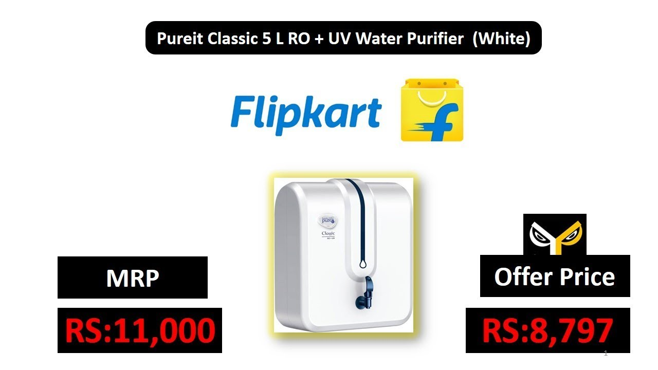 Pureit Classic 5 L Ro Uv Water Purifier White Youtube 9l