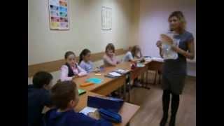 Фрагмент урока в First Decision - октябрь 2013 г., 11 лет, Beginner / English Zone 2
