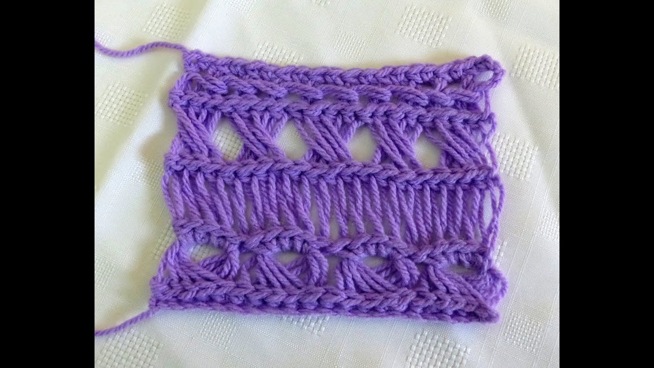 Broomstick Lace Variations 1: Traditional - YouTube