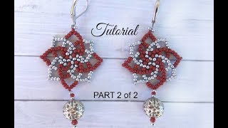 How to make seed bead earrings - twist stitch tutorial (PART 2)