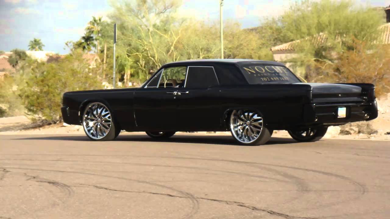 only murdered out 64 lincoln continental on 24 39 s youtube. Black Bedroom Furniture Sets. Home Design Ideas