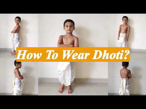 How To Wear Dhoti