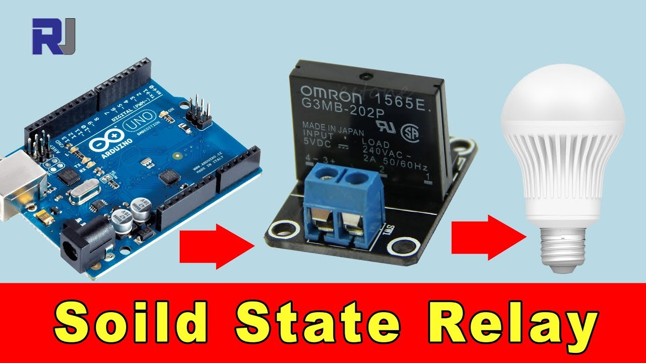 how to use solid state relay with arduino to control ac load [ 1280 x 720 Pixel ]