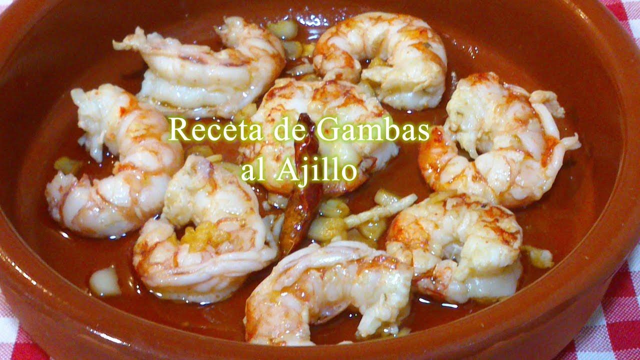 Cocinar Gambas Al Ajillo | Como Hacer Gambas Al Ajillo Receta Facil Youtube