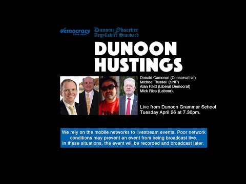 Dunoon Observer Scottish Parliamentary Election Hustings