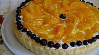 Десерт из пряных мандаринов с ванильным муслином. Что приготовить...