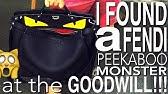 7216a7adbced my modish Fendi fur monster eye backpack. - YouTube