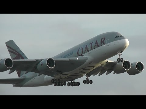 **90 MINUTES** of Heavy Departures / London Heathrow Airport (Inc. 12 A380's)