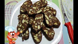 Чайная/Шоколадная Колбаска (Очень вкусный десерт за 10 минут) | Chocolate Sausage, English Subtitles