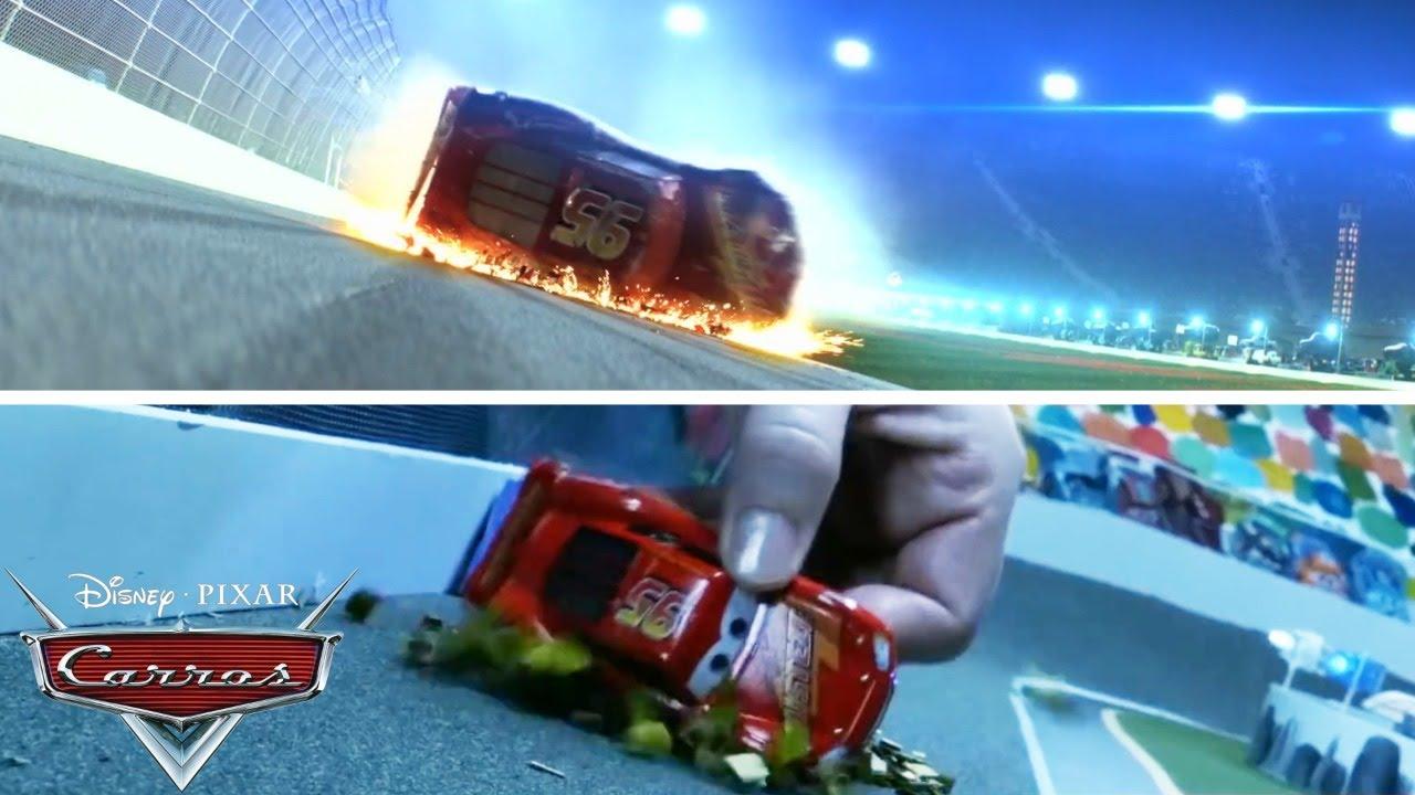 McQueen escena del accidente en la película |  Pixar Cars