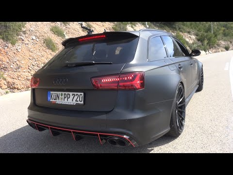 750HP Audi RS6 PP-Performance w/ Akrapovic - INSANE Quattro Burnouts!