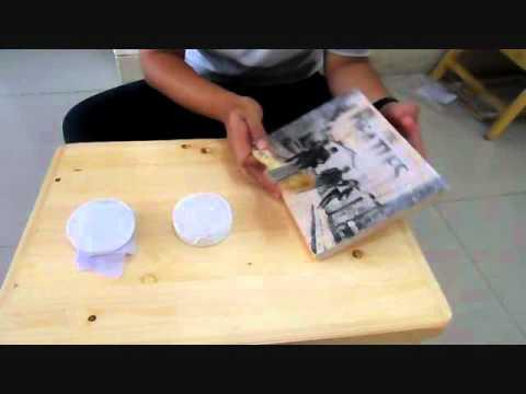 Magic Potatow Photo Transfer To Wood Transfer Foto Ke Kayu Youtube