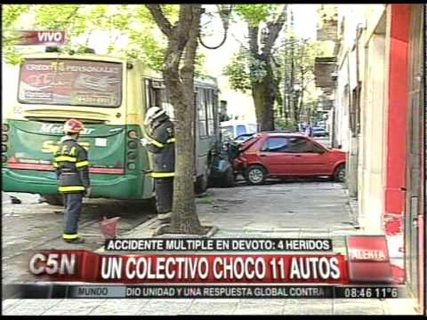 C5N - TRANSITO: ACCIDENTE MULTIPLE EN VILLA DEVOTO (PARTE 2)