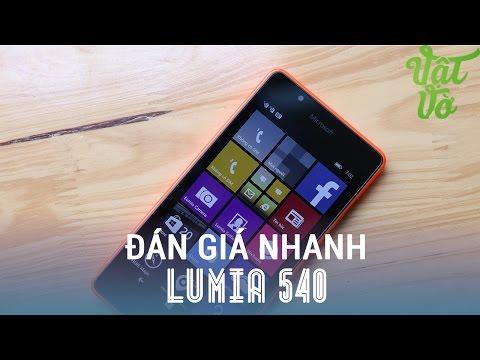 Vật Vờ - Đánh giá nhanh & mở hộp Microsoft Lumia 540: Màn hình đẹp, thiết kế tốt, giá rẻ