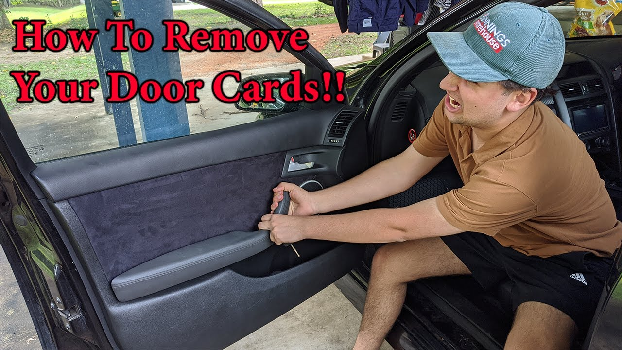 How to Remove a VE Holden Commodore Door Card!!