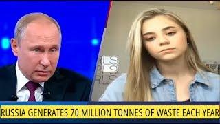 Instagram Blogger Girl Video Calls Vladimir Putin, Raises Ecology And Waste Management Issue