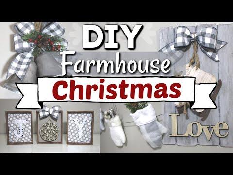 DIY Dollar Tree Farmhouse Christmas Decor | Farmhouse Christmas DIY Home Decor | Krafts by Katelyn