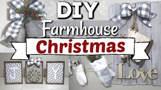 DIY Dollar Tree Farmhouse Christmas Decor | Farmhouse Christmas DIY Home Decor | Krafts by Katelyn