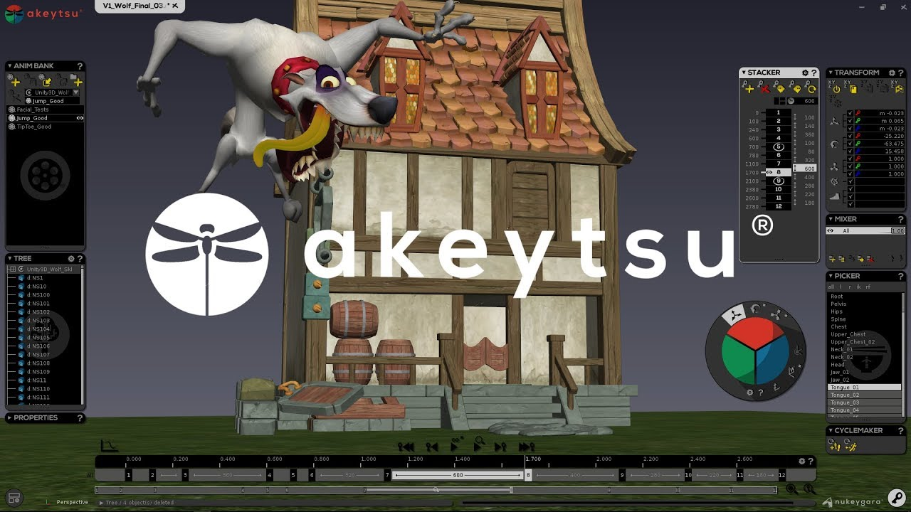 Discover akeytsu | The 3D animation tool for artists