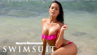 Mia Kang Makes A Splash & Glows Against  | Sports Illustrated Swimsuit