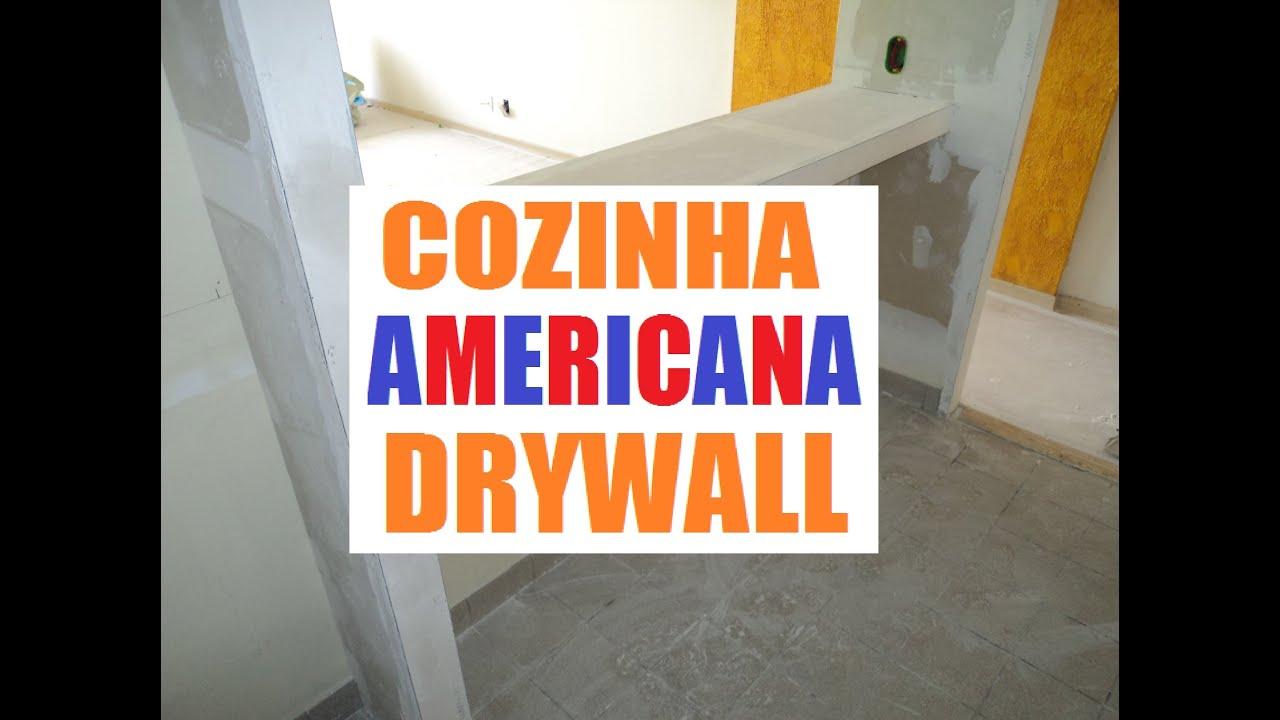 Como Fazer Cozinha Americana Drywall Parte 01   #BE5E0D 2588 1944