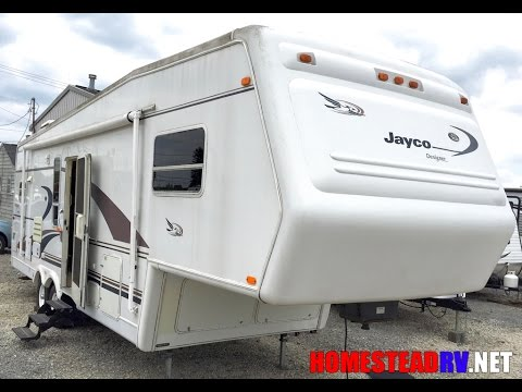 1999 JAYCO 3030 RKS DESIGNER FIFTH WHEEL TRAVEL TRAILER OHIO RV DEALER Homesteadrv