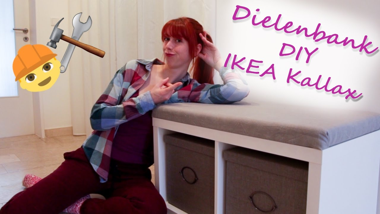 ikea hack dielenbank diy mit helena kallax regal youtube. Black Bedroom Furniture Sets. Home Design Ideas