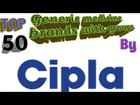 TOP 50 Generic Medicine Brand Group By Cipla Generic