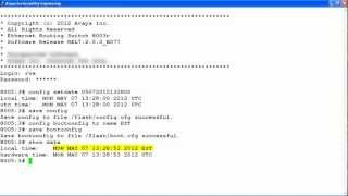 How to Change the System Time on the Avaya ERS8800