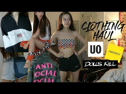 GIANT CLOTHING HAUL!! soaesthetic, dollskill, urban outfitters, antisocial social club, + MORE